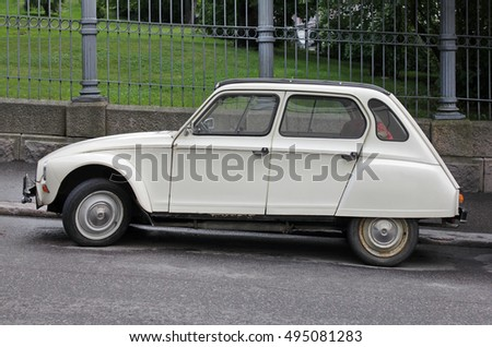 Old Car Flat Tires Stock Photo 681777838 Shutterstock