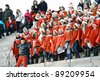 HELSINKI, FINLAND - NOVEMBER 20: Traditional Christmas Street opening ceremony in Helsinki on November 20, 2011. Unidentified participants - stock photo