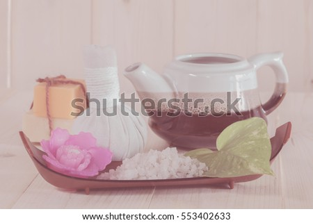 Herbal Ball Spa and wellness setting