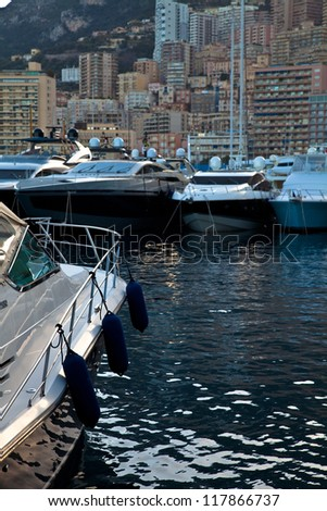 Hercules Port in La Condamine, Principality of Monaco, Europe