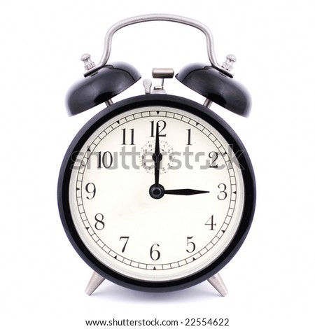 High Detail Alarm Clock isolated on white