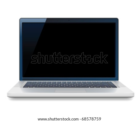 High detailed laptop. Raster version. Vector version is also available.