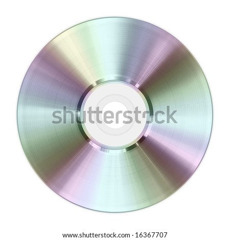 High quality raster illustration of an optical disk