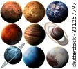 High quality solar system planets. Elements of this image furnished by NASA - stock photo