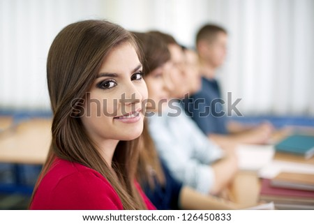 High school students in the classroom