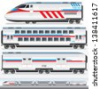 High-Speed Locomotive with Wagons. - stock