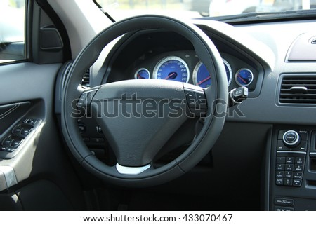 dashboard car interior stock photo 224557975 shutterstock. Black Bedroom Furniture Sets. Home Design Ideas