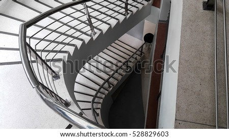 High top view concrete stair