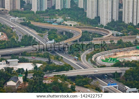 Highway in Tseung Kwan O , Hong Kong