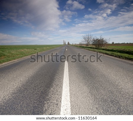 highway with blue sky