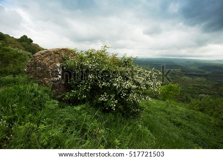 hilly outdoor landscape