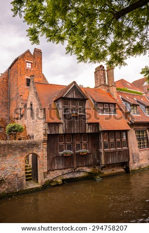 Historic Centre of Bruges, Belgium. part of the UNESCO World Heritage site