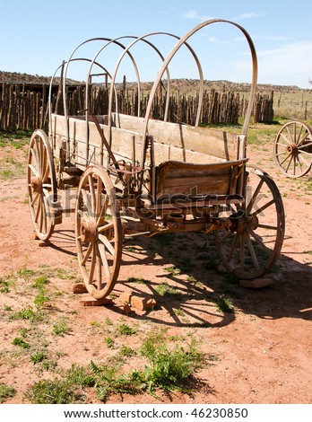 historic covered wagon