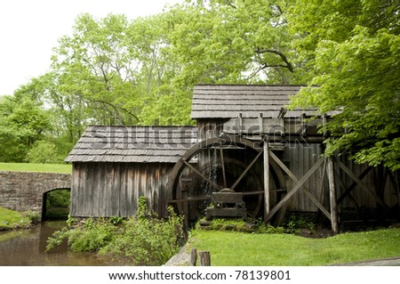 Historic Grist Mill on the Blue Ridge Parkway called Malby Mill
