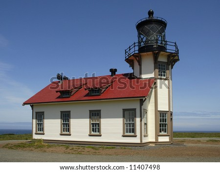 Historic lighthouse on the Mendocino coast.