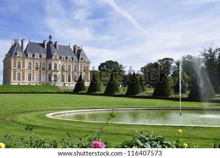 Historical landmark, Chateau with large park and pond, in France