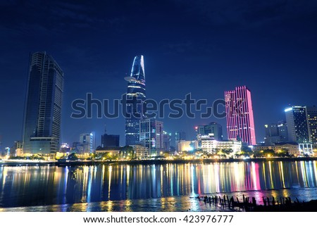 HO CHI MINH CITY, VIET NAM - MAY 21, 2016: Bitexco tower, an icon tower in Sai Gon, Viet Nam.