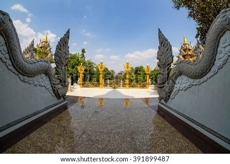 HO CHI MINH CITY, VIETNAM - 17 Mar 2016: Landscape of Buu Long Buddhist temple in Ho Chi Minh City, Vietnam This temple at Long Binh ward t, district 9 in Hochiminh city, Vietnam