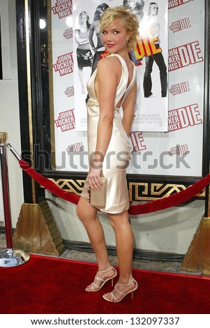 HOLLYWOOD - JULY 25: Arielle Kebbel at the premiere of John Tucker Must Die on July 25, 2006 at Grauman's Chinese Theatre in Hollywood, CA.