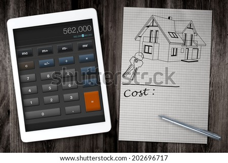 Home construction cost calculator stock photo 202696714 for Building cost calculator