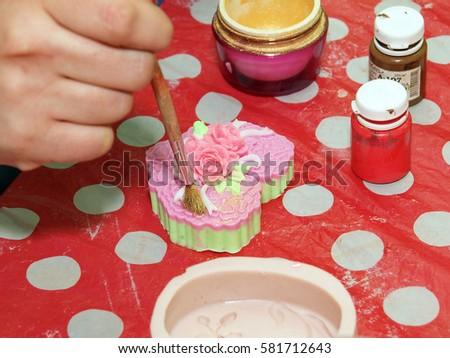 Homemade Soap Preparation Stock Photo 581712640 - Shutterstock