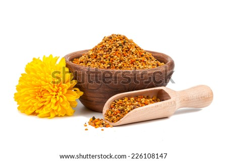 Honey pollen isolated on white background