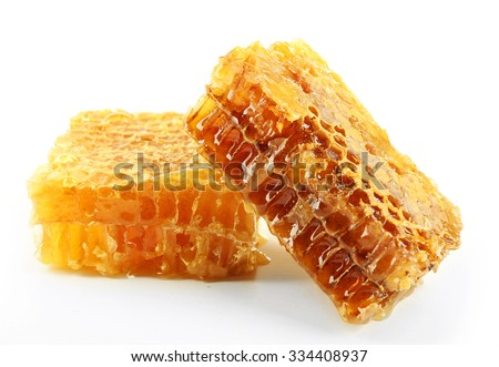 Honeycombs isolated on white