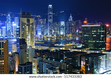 Hong Kong City skylines at Night