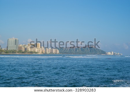Waikiki beach hawaii stock photo 95093680 shutterstock for Number one travel destination