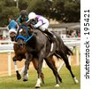 Horse Racing in Bridgetown, Barbados. Sandy Lane Gold Cup - stock photo