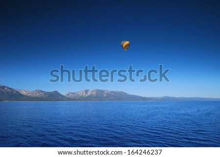 Hot Air Balloon at Lake Tahoe in California