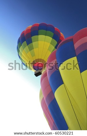 Hot Air Balloons ascending.