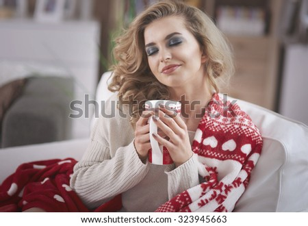 Hot chocolate in christmas time