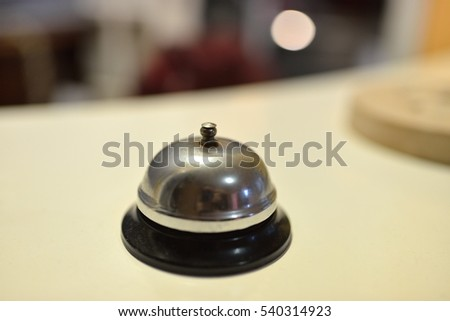 Hotel service ring bell