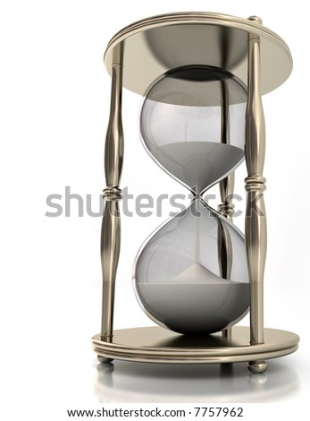Hourglass. Concept of time in business.