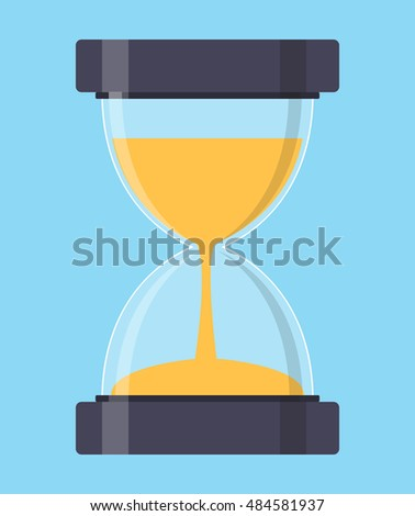 Sandglass icon  Hourglass Icon Sand Glass Clock Flat Stock Vector 294344390 ...