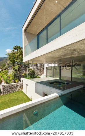 House,  modern architecture, swimming pool, outdoor