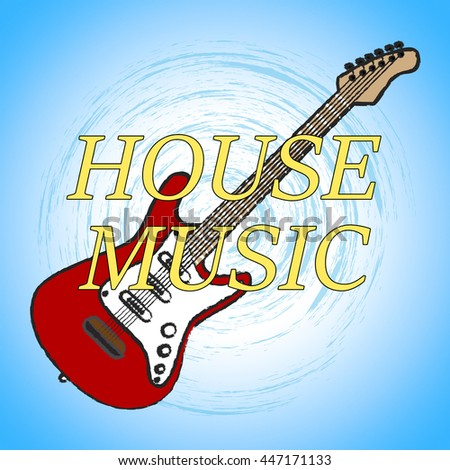 Music charts meaning sound track audio stock illustration for Define house music