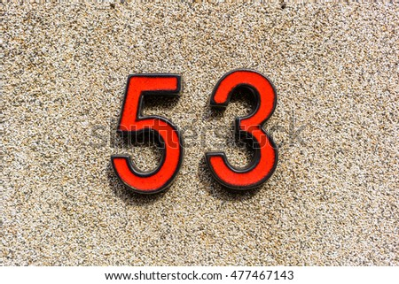 House number fifty three (53)