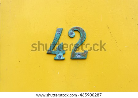 House number forty two (42)