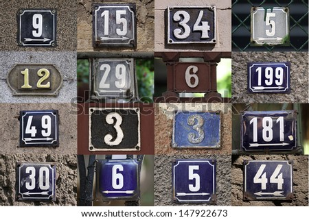 House numbers on a wall
