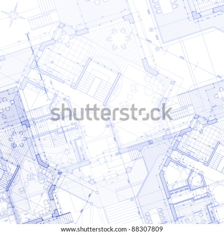 Architecture blueprint 3d house plan vector vectores en stock house plan architecture blueprint bitmap copy my vector malvernweather Image collections