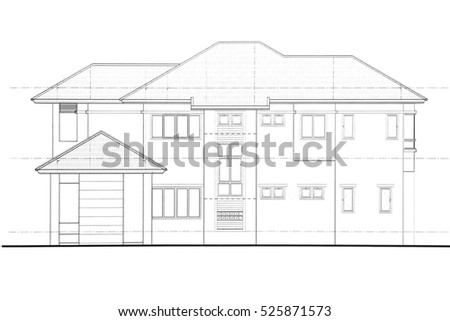 House plan - Side view