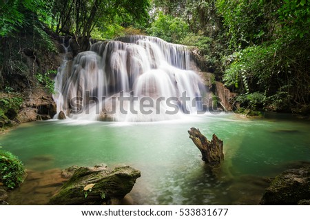 Huai Mae Khamin Waterfall in Thailand