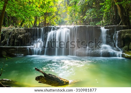 Huaymaekamin waterfall famous place green nature freshness national park