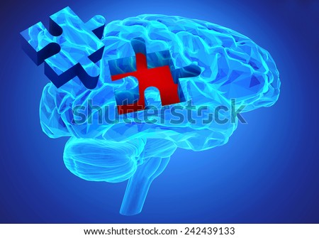 Human Brain Research Memory Loss Symbol Stock Illustration 242439133