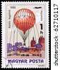 HUNGARY - CIRCA 1983: A stamp printed in Hungary showing balloon, circa 1983 - stock photo