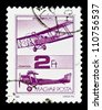 "HUNGARY - CIRCA 1988 : A stamp printed in Hungary shows Old Airplane, with the inscription ""Brandenburg CI"", from the series ""Airplanes"", circa 1988 - stock photo"