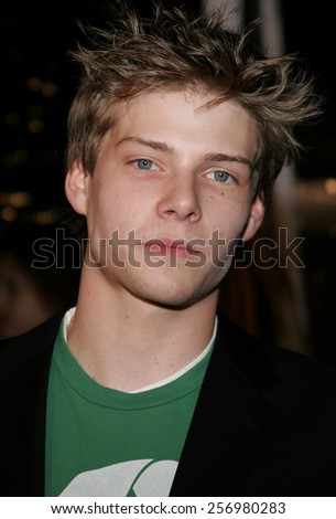 "Hunter Parrish at the Los Angeles premiere of ""Freedom Writers' held at the Mann Village Theatre in Westwood on January 4, 2007."
