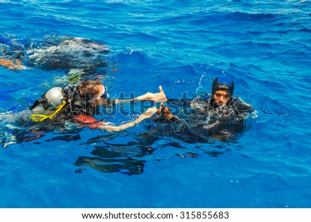 Sexy Woman Swimming Lagoon Turquoise Water Stock Photo 1820354 Shutterstock